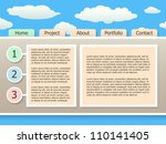 web site design template  eps10 | Shutterstock .eps vector #110141405