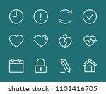 set heart line icon stock...   Shutterstock .eps vector #1101416705