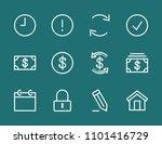 set money dollar line icon...   Shutterstock .eps vector #1101416729
