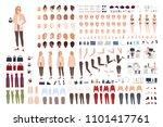 female secretary or office... | Shutterstock .eps vector #1101417761