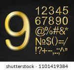 collection of  3d numbers and... | Shutterstock .eps vector #1101419384