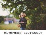 portrait of adorable little girl | Shutterstock . vector #1101420104