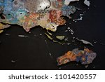 lots of gems laid out and silk...   Shutterstock . vector #1101420557