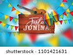 festa junina illustration with...   Shutterstock .eps vector #1101421631