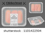 chicken breast packaging on the ... | Shutterstock .eps vector #1101422504