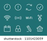 set wi fi line icon stock...   Shutterstock .eps vector #1101423059