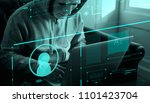 anonymous hacker committing a... | Shutterstock . vector #1101423704