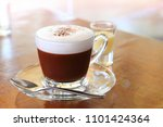 a cup of hot chocolate with... | Shutterstock . vector #1101424364