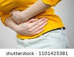 health care concept. bellyache  ... | Shutterstock . vector #1101425381