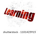 studying concept  pixelated red ... | Shutterstock . vector #1101425915