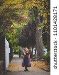 little girl in a fairy costume... | Shutterstock . vector #1101428171