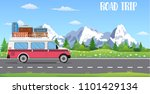 web banner on the theme of road ... | Shutterstock . vector #1101429134