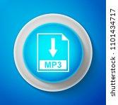 white mp3 file document icon...   Shutterstock .eps vector #1101434717