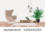 modern interior with beige... | Shutterstock .eps vector #1101441254
