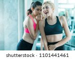 happiness healthy fit and firm... | Shutterstock . vector #1101441461