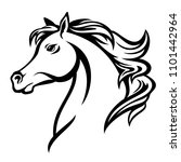 arabian horse profile head  ... | Shutterstock .eps vector #1101442964