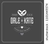 wedding invitation card design...   Shutterstock .eps vector #1101445574