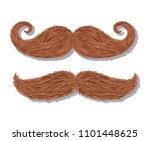 mustaches hipster style icons | Shutterstock .eps vector #1101448625