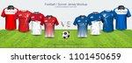 soccer jersey and t shirt sport ... | Shutterstock .eps vector #1101450659