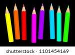 baby crayons. neon colored... | Shutterstock .eps vector #1101454169