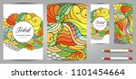doodles corporate identity and... | Shutterstock .eps vector #1101454664