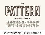 pattern modern typeface. font... | Shutterstock .eps vector #1101458645