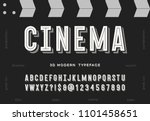 cinema 3d modern typeface.... | Shutterstock .eps vector #1101458651
