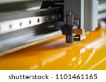 cutting plotter close up. the... | Shutterstock . vector #1101461165