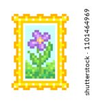 floral field  oil on canvas ... | Shutterstock .eps vector #1101464969