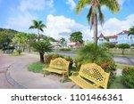 seaside promenade of peninsula...   Shutterstock . vector #1101466361