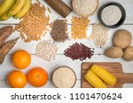 carbohydrates different... | Shutterstock . vector #1101470624