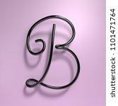 3d rendering handwritten shiny... | Shutterstock . vector #1101471764
