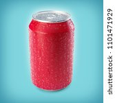 3d render of red aluminium can... | Shutterstock . vector #1101471929