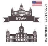 state of iowa. iowa state... | Shutterstock .eps vector #1101473204