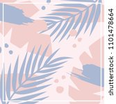 vector floral design for scarf | Shutterstock .eps vector #1101478664