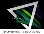 liquid fluid colors holographic ... | Shutterstock .eps vector #1101480707