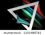 liquid fluid colors holographic ... | Shutterstock .eps vector #1101480761