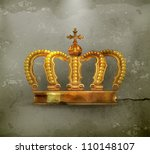 crown  old style vector | Shutterstock .eps vector #110148107