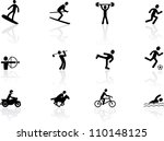 games and sport icons | Shutterstock .eps vector #110148125