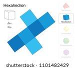 hexahedron platonic solid... | Shutterstock .eps vector #1101482429