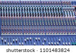 music mixer desk with various... | Shutterstock . vector #1101483824