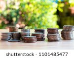 coins for business and economic ... | Shutterstock . vector #1101485477
