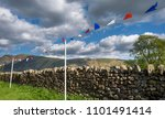 summer bunting along a dry... | Shutterstock . vector #1101491414
