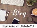 blog and information website... | Shutterstock . vector #1101494699