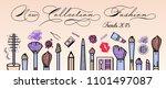 makeup artist banner. beauty... | Shutterstock .eps vector #1101497087