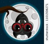 a spooky scary orange halloween ... | Shutterstock .eps vector #1101508271