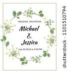 wedding invitation. flowers.... | Shutterstock .eps vector #1101510794