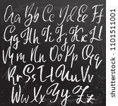 grunge distress font. modern... | Shutterstock .eps vector #1101511001