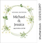 wedding invitation. flowers.... | Shutterstock .eps vector #1101511097