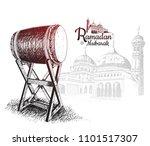 ramadan mubarak free hand... | Shutterstock .eps vector #1101517307